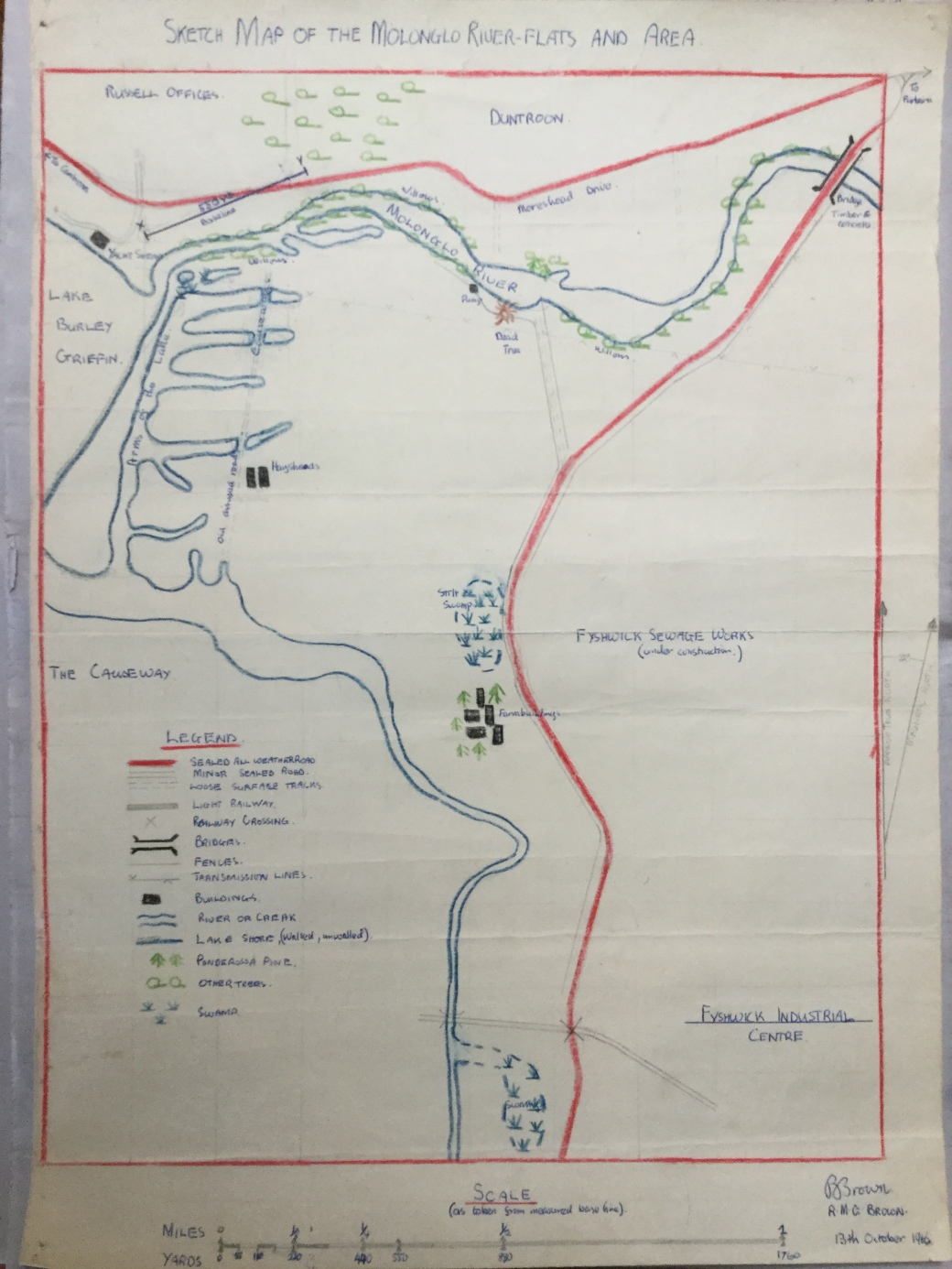 Sketch map of survey area